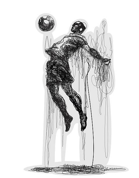 fußballspieler schuhe den ball. vektor-illustration - fußballkunst stock-grafiken, -clipart, -cartoons und -symbole