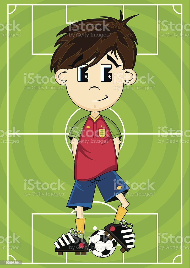 Soccer Player on Pitch royalty-free stock vector art