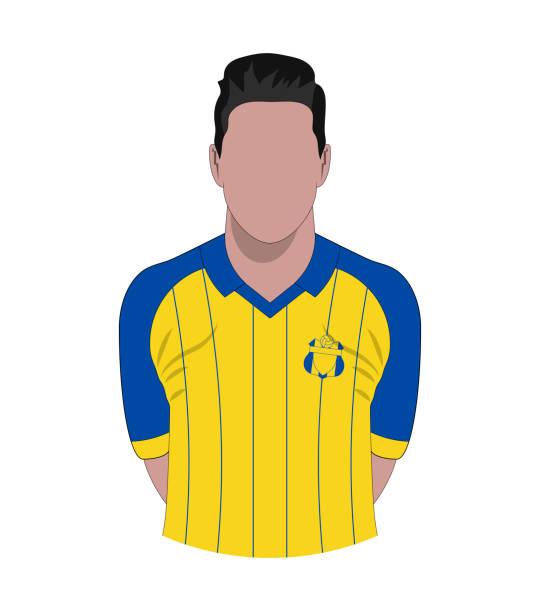 ilustrações de stock, clip art, desenhos animados e ícones de soccer player photo - soccer supporter portrait