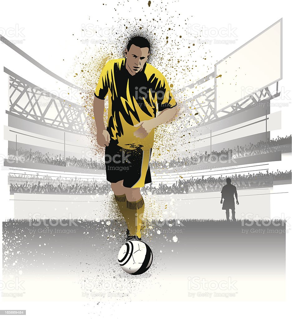Soccer player ready to shoot a penalty royalty-free soccer player ready to shoot a penalty stock vector art & more images of adult