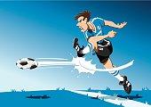 Soccer Player Shot On Goal