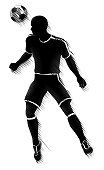 Soccer Player Sports Silhouette Concept