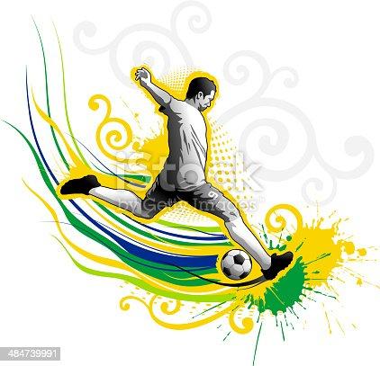 istock Soccer Player Striking 484739991