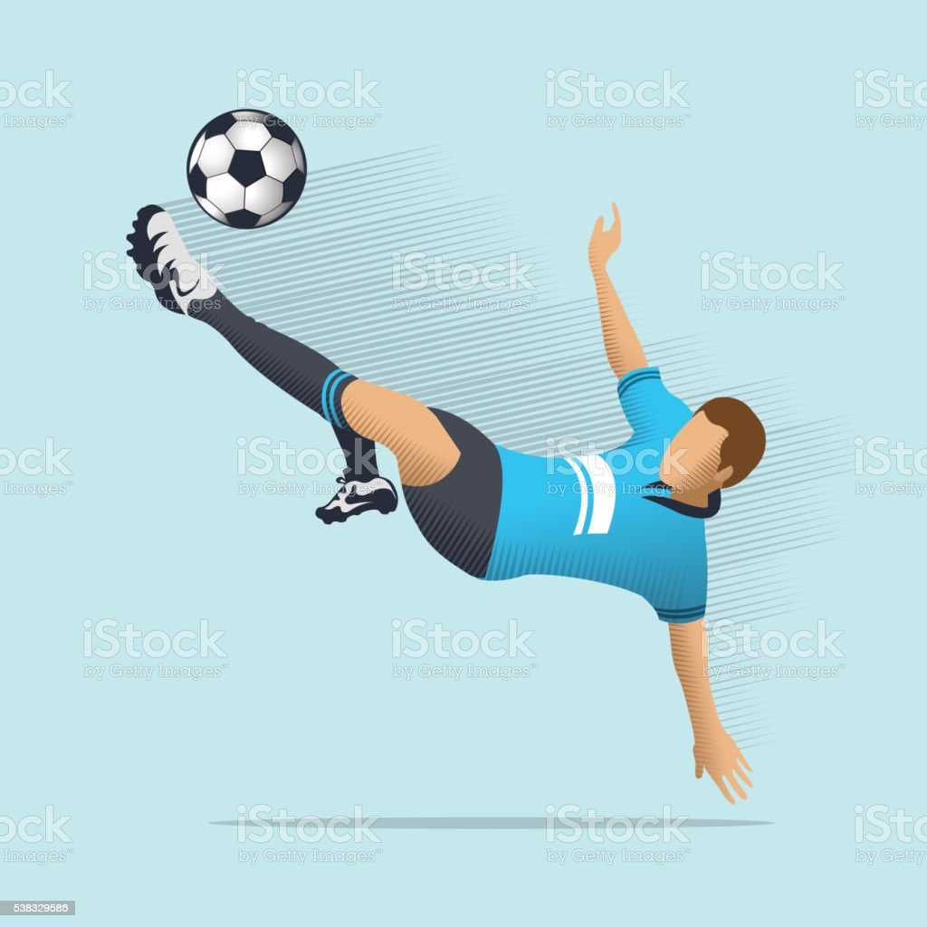 Soccer player royalty-free soccer player stock illustration - download image now