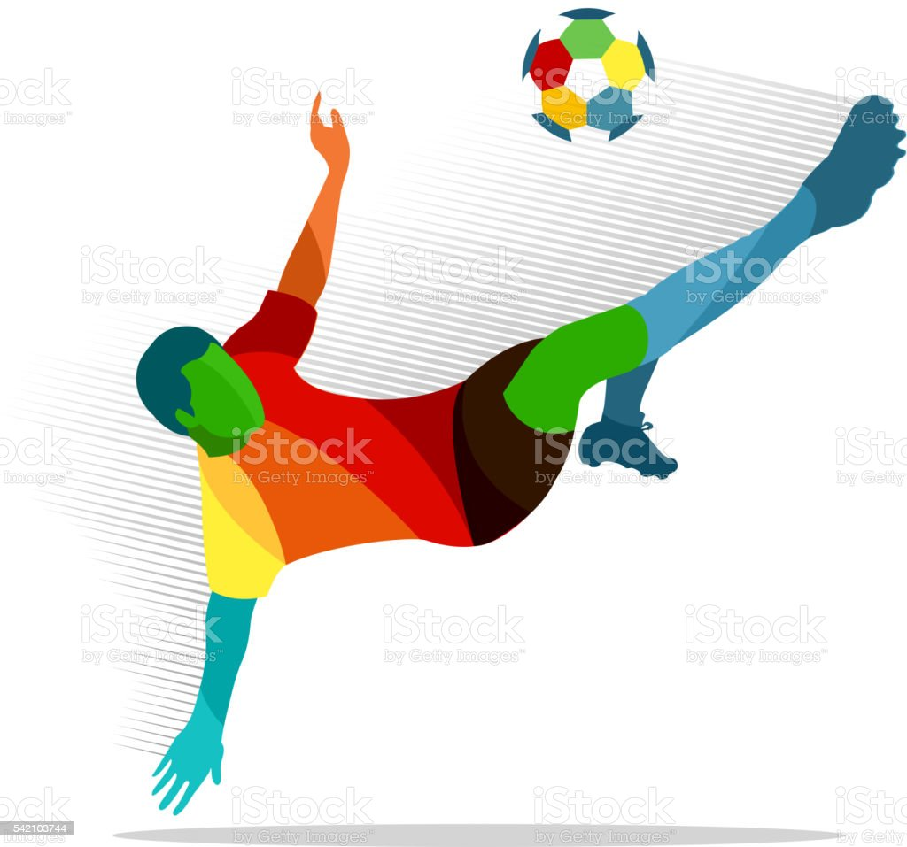 Soccer player royalty-free soccer player stock vector art & more images of broiling