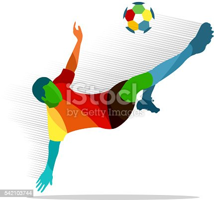 Soccer Player Stock Vector Art & More Images of Broiling 542103744