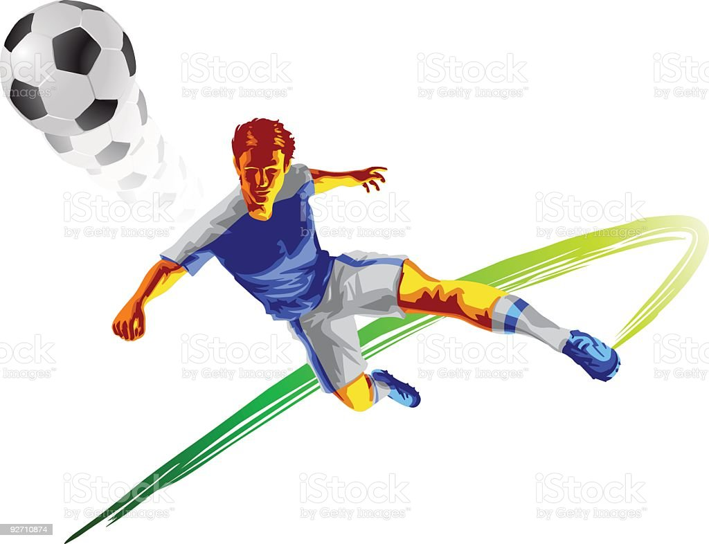 Soccer Player royalty-free stock vector art