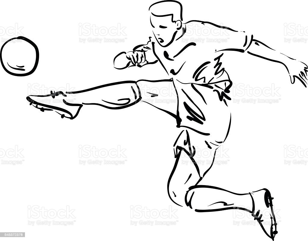 soccer player vector series stock vector art more images of adult rh istockphoto com soccer player vector silhouette female soccer player silhouette vector