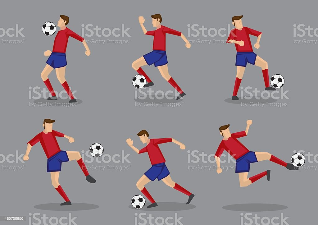 Soccer Player with Soccer Ball Vector Illustration vector art illustration