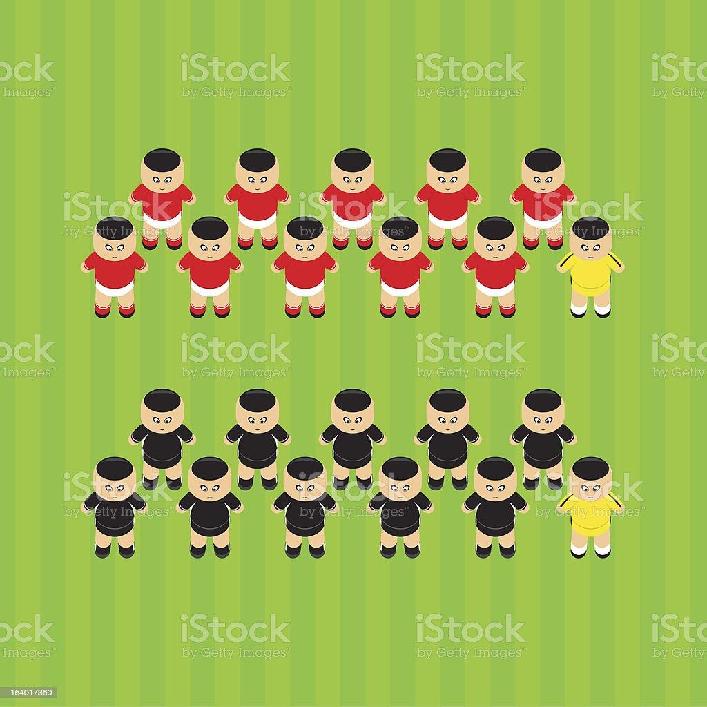 soccer players Austria royalty-free stock vector art