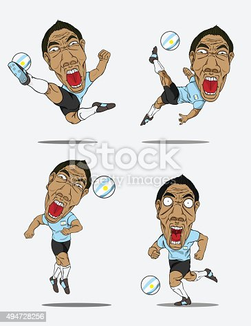 istock Soccer players collection. Vector design 494728256