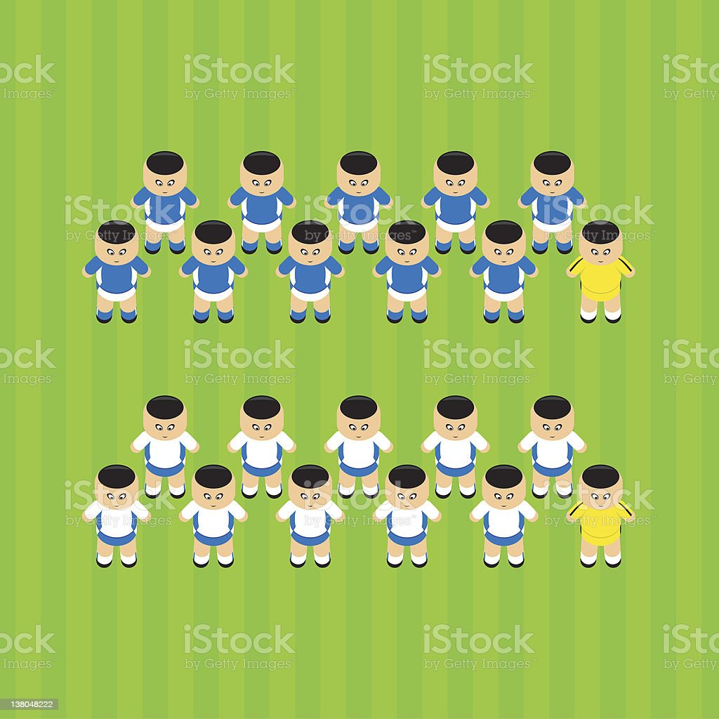 soccer players Italy royalty-free stock vector art