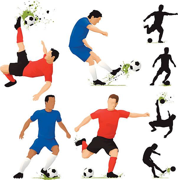stockillustraties, clipart, cartoons en iconen met soccer players - soccer player