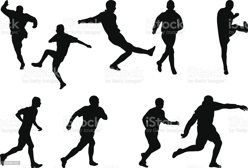 Soccer players royalty-free stock vector art