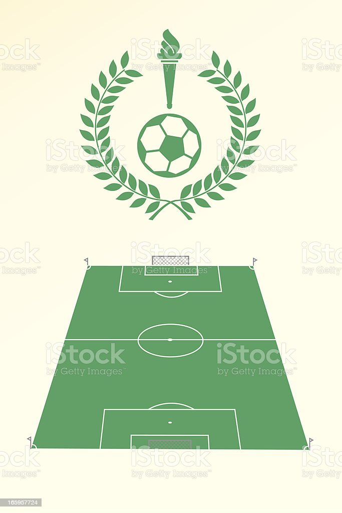 Soccer poster and emblem royalty-free stock vector art