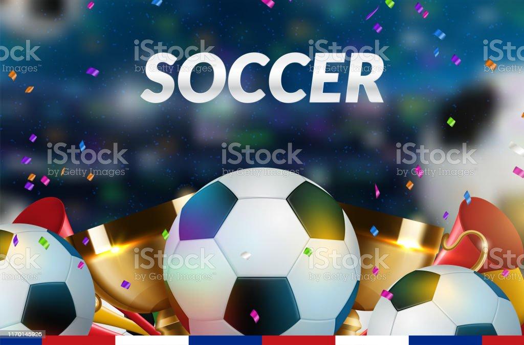 Soccer Poster design. Football Ball flyer concept. Design For Sport...