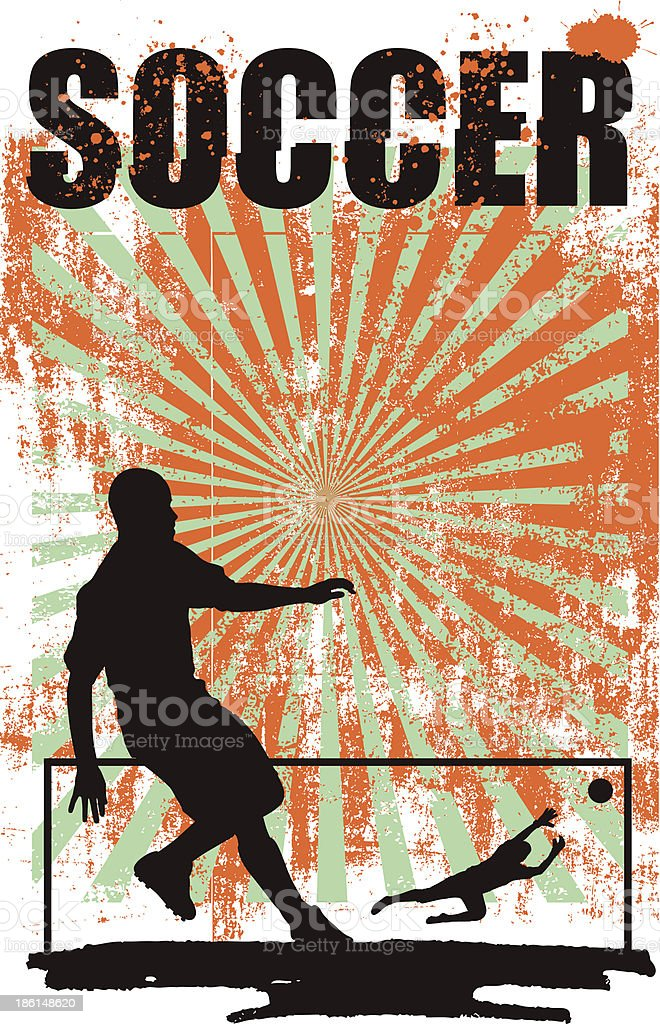 soccer poster with best goal shoot royalty-free stock vector art