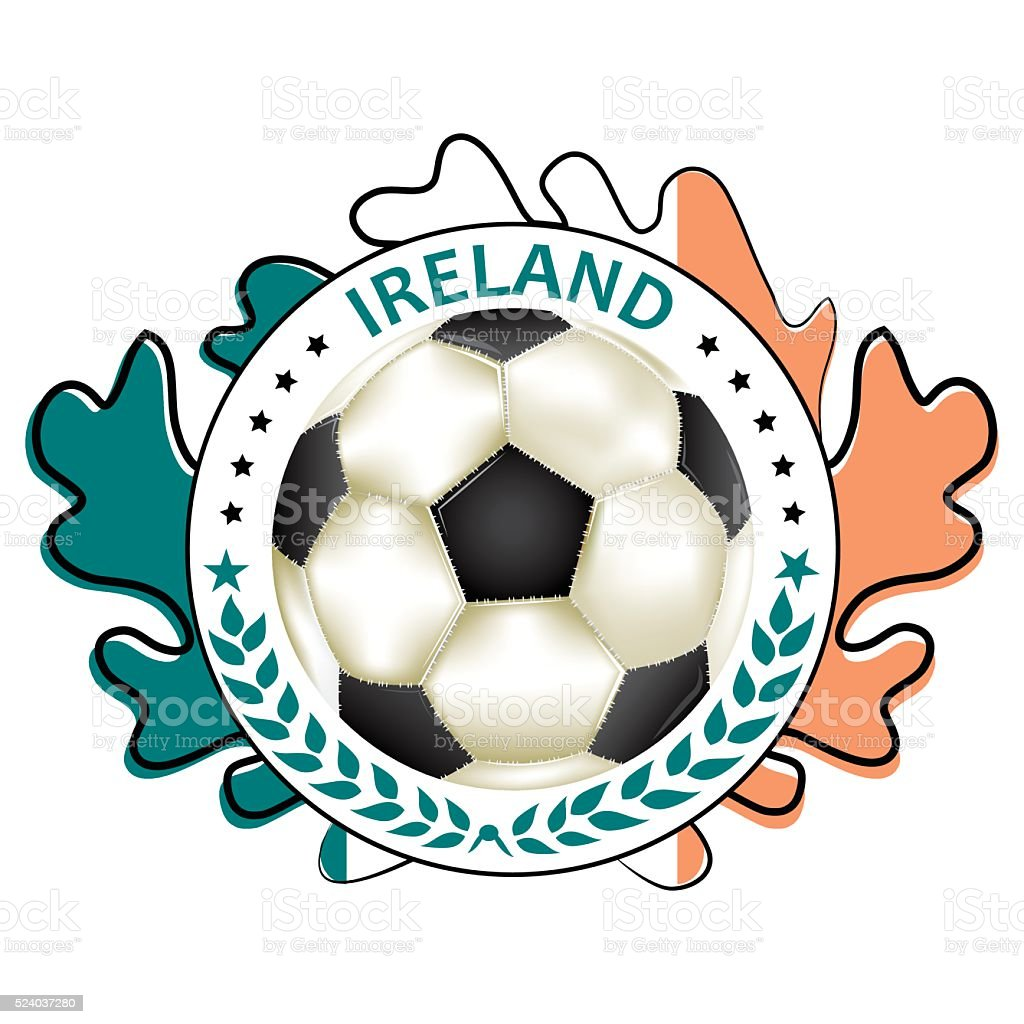 picture relating to Flag of Ireland Printable known as Football Printable Label With Flag Of Eire Inventory