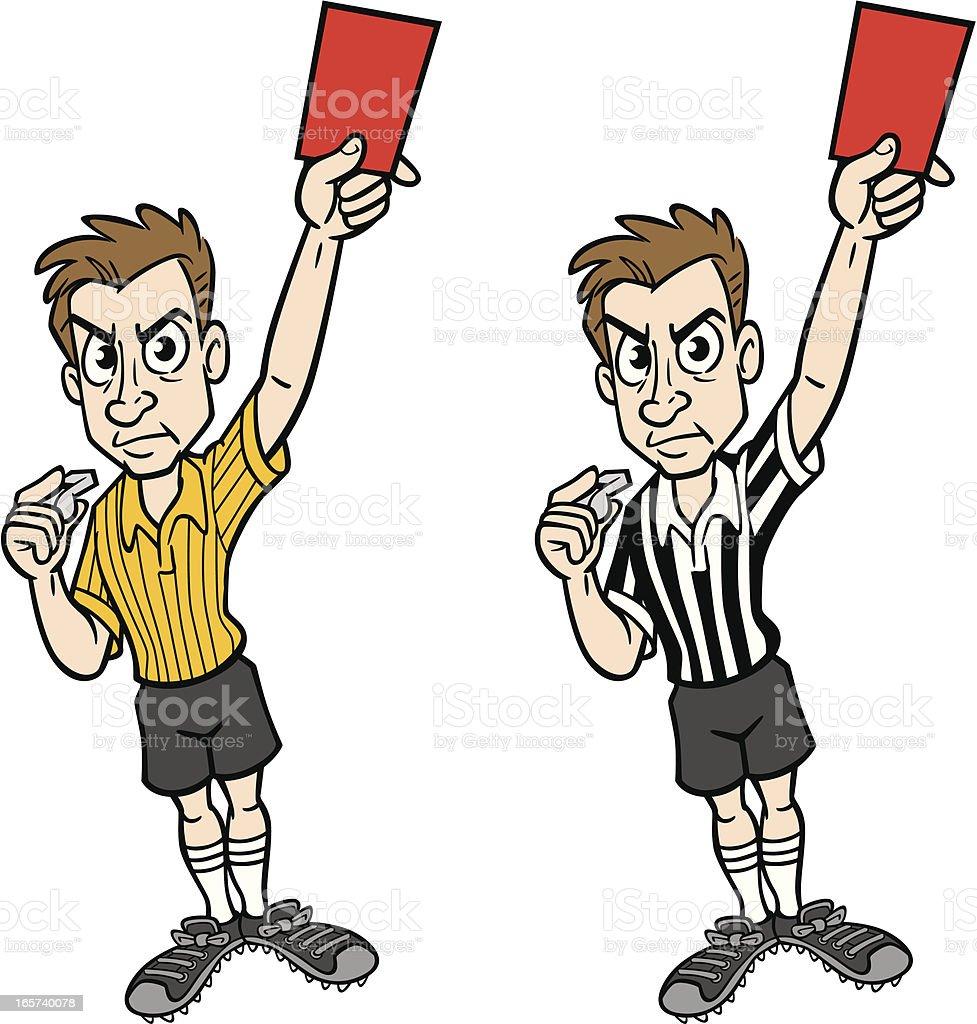 cartoon of a referees clip art vector images illustrations istock rh istockphoto com basketball referee clipart clipart referee shirt