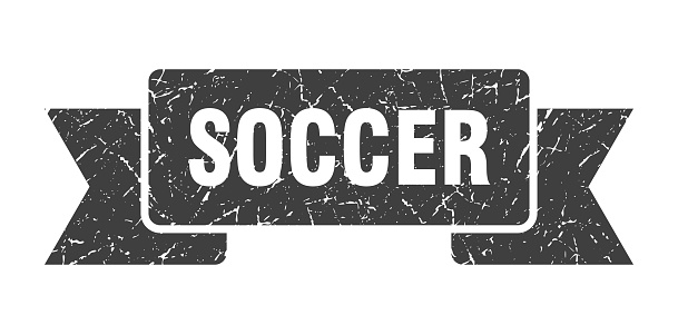 soccer ribbon. soccer grunge band sign. soccer banner