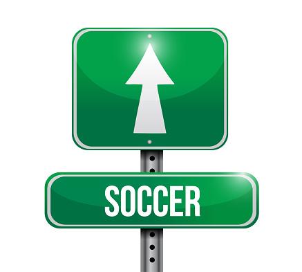 Soccer road sign illustrations design