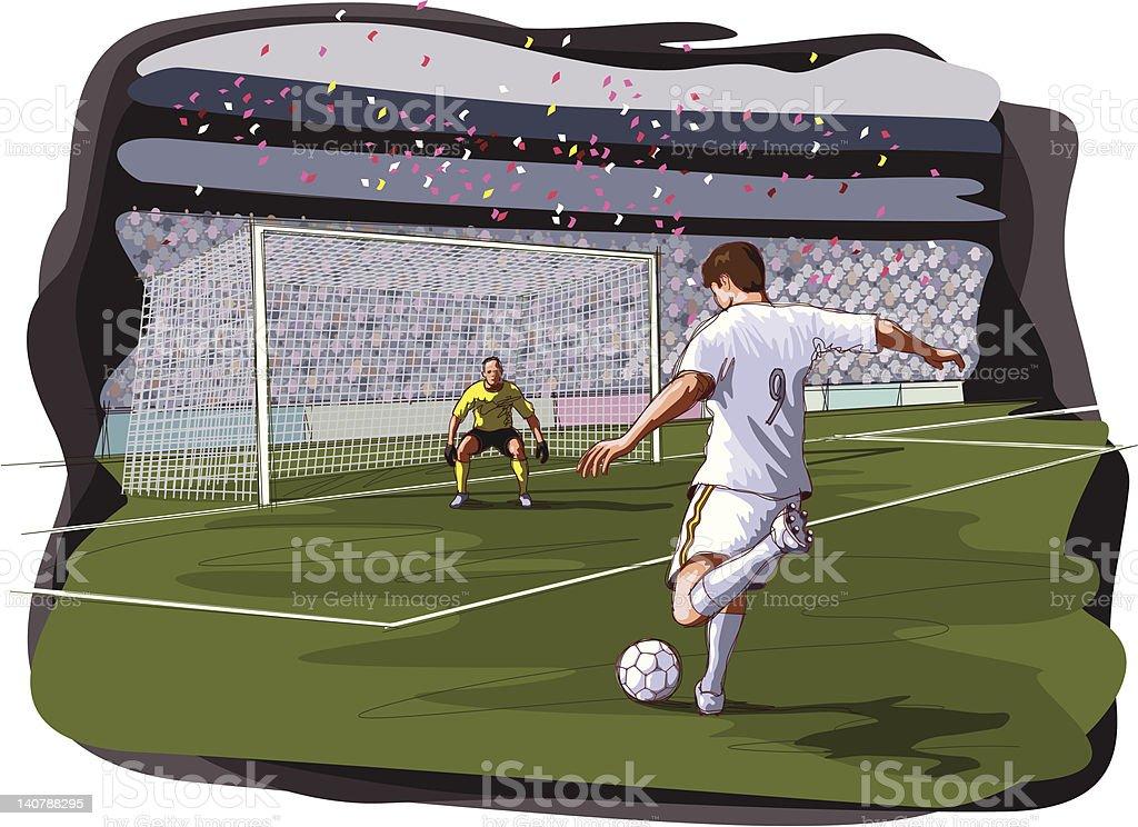 soccer scene vector art illustration