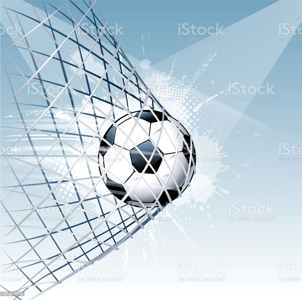 soccer scoring vector art illustration