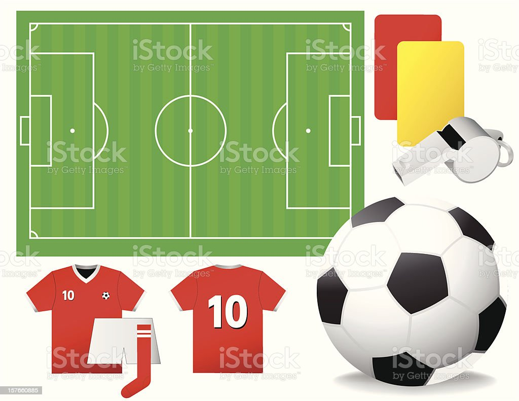 Soccer Set - Vector illustrations royalty-free stock vector art