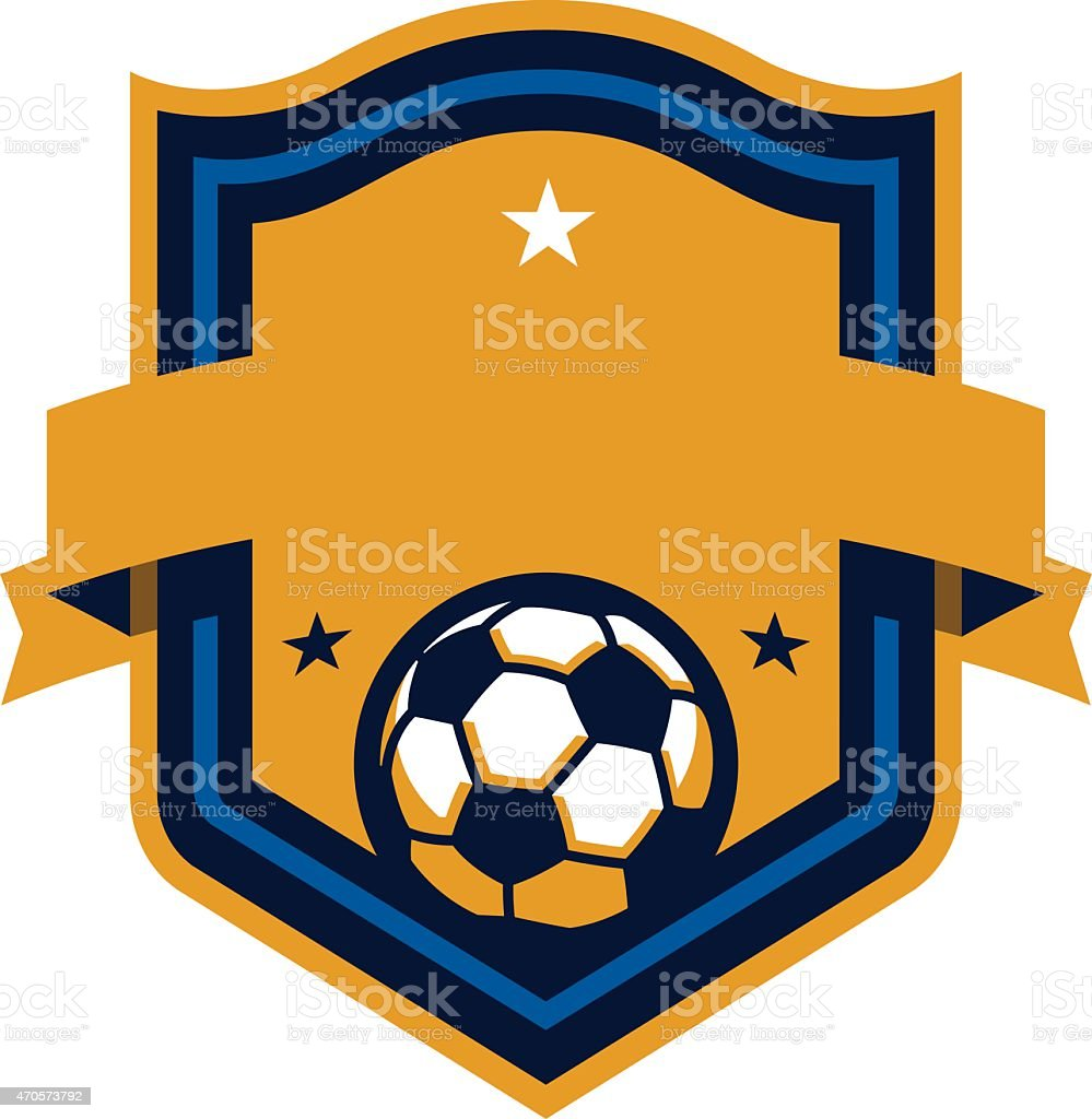Soccer Shield vector art illustration
