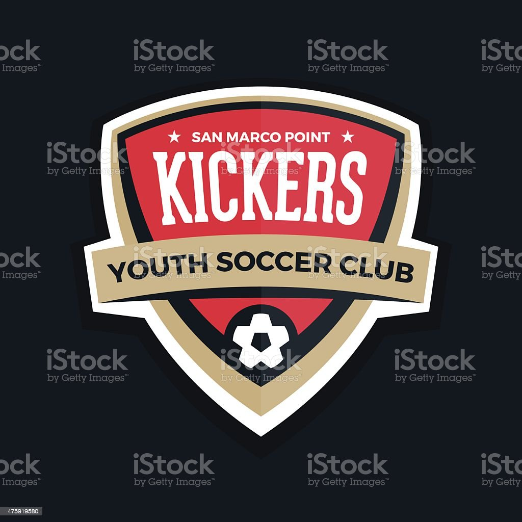 Soccer shield royalty-free soccer shield stock illustration - download image now