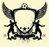 Soccer shield illustration...