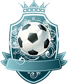 design of vector soccer ball shielding.This file was recorded with adobe illustrator cs4 transparent.EPS10 format.