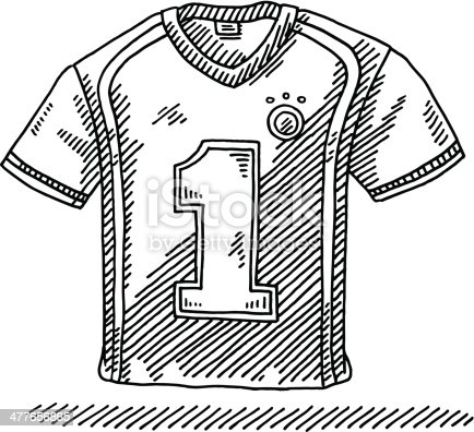 Soccer Shirt Number 1 Drawing