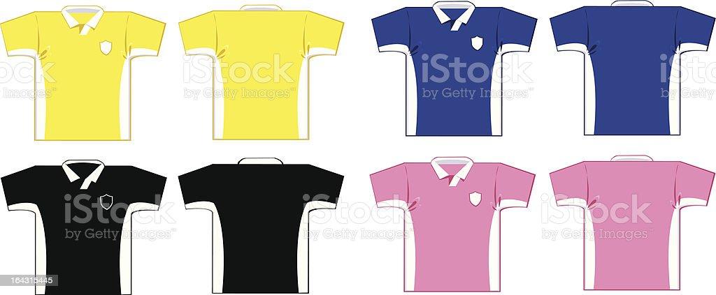 Soccer Shirts royalty-free stock vector art
