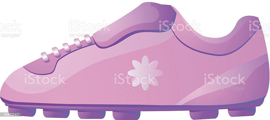 Calçado de futebol para meninas - ilustração de arte em vetor
