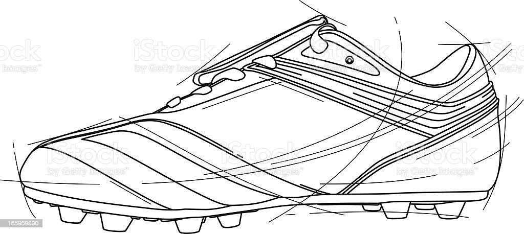Soccer Shoe vector art illustration