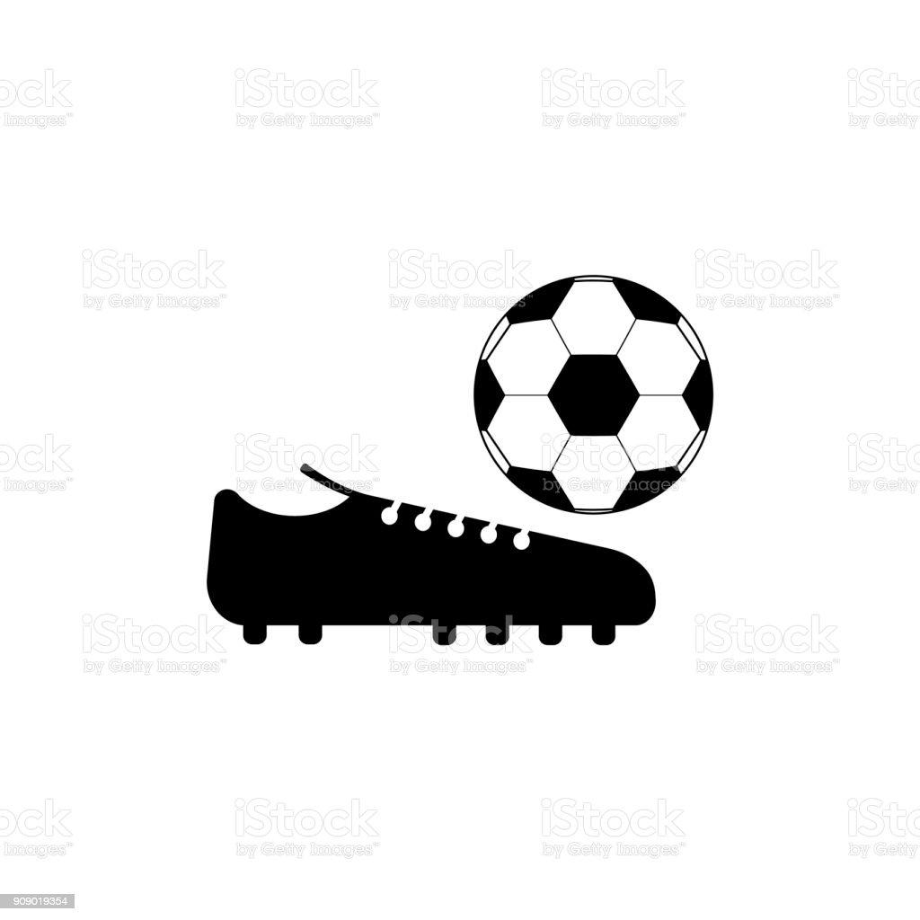 Fussball Schuhe Symbol Auf Schwarzweissvektorhintergrunde