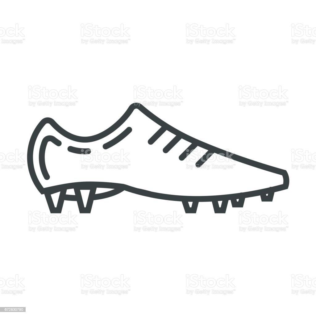 Soccer shoes vector icon vector art illustration