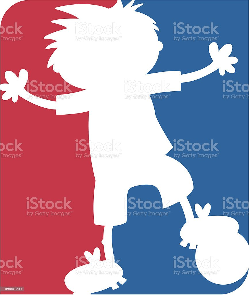 Soccer Silhouette Icon royalty-free stock vector art