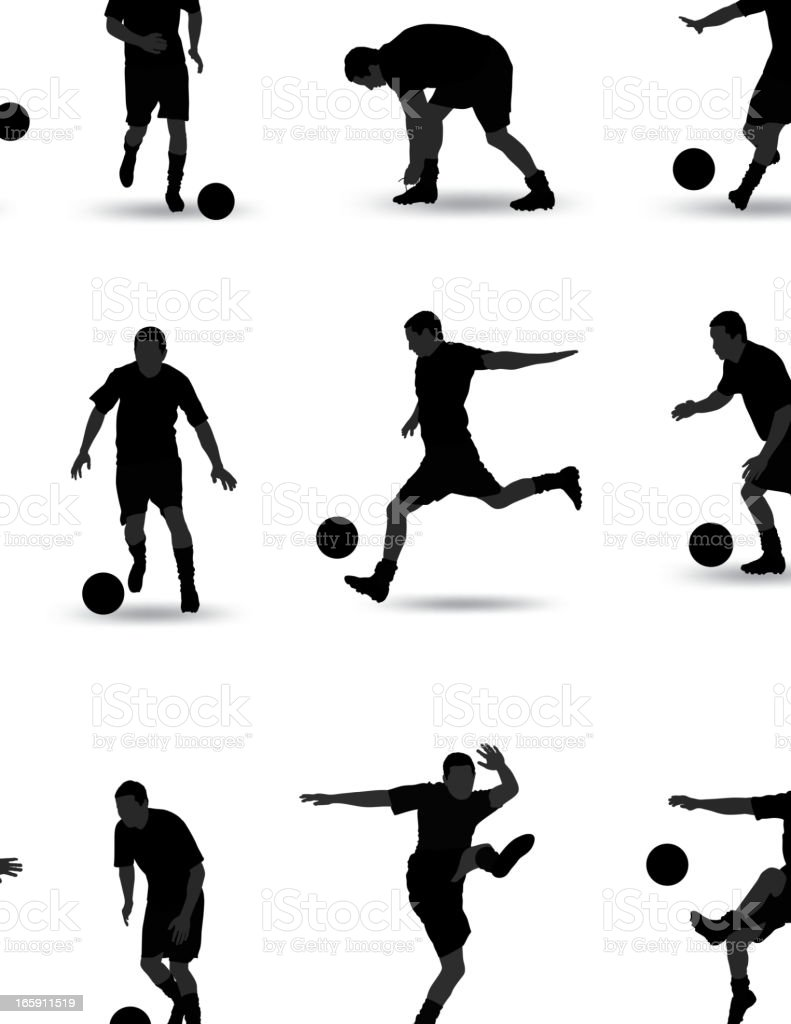 Soccer Silhouette vector art illustration