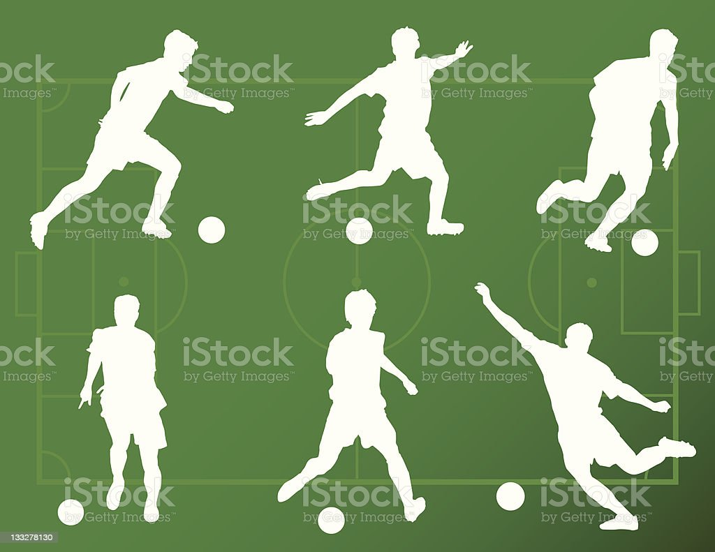 Soccer Silhouettes royalty-free stock vector art