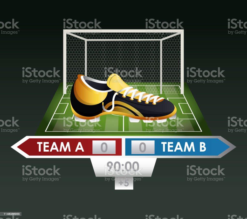 Soccer Sport Game Stock Illustration - Download Image Now