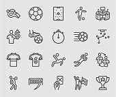 Soccer sports line icon