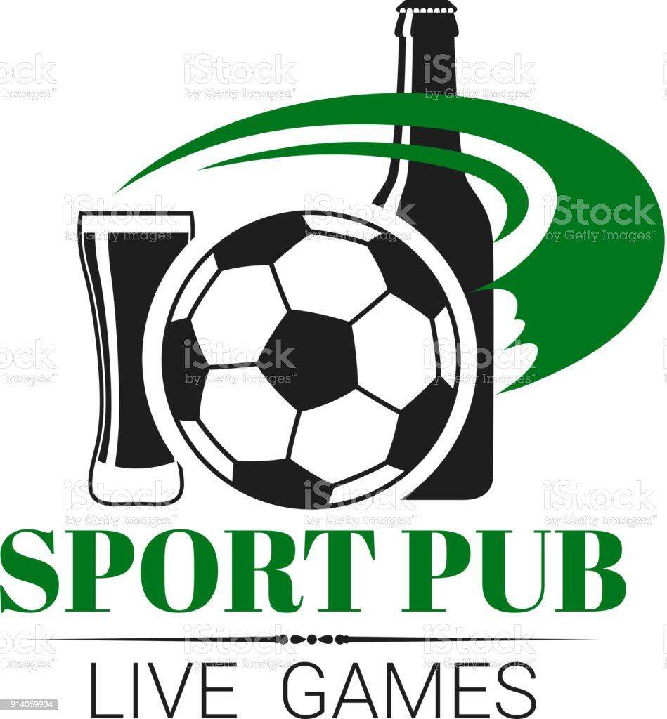 Pub Sport Football Graphisme Vectoriel Barre De Football En Direct