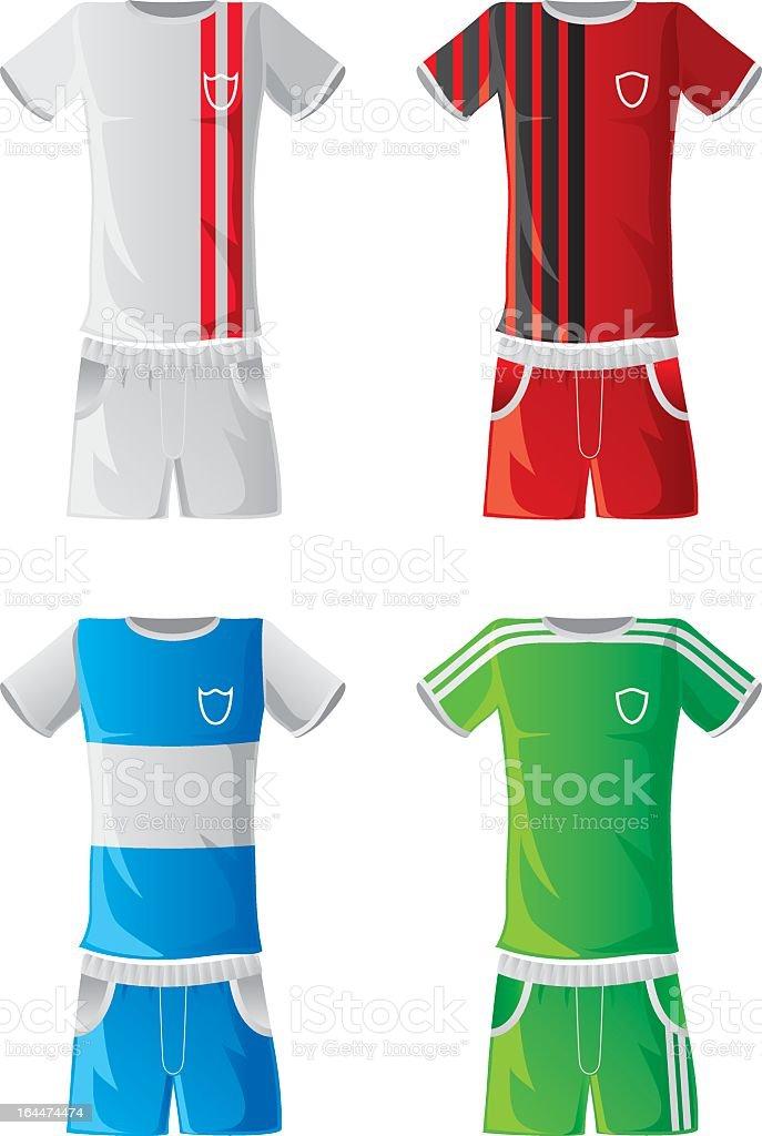 Soccer sportswear royalty-free stock vector art