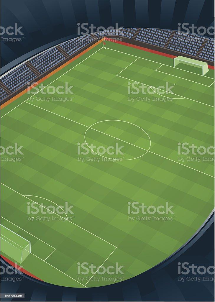 Soccer Stadium Top View royalty-free stock vector art