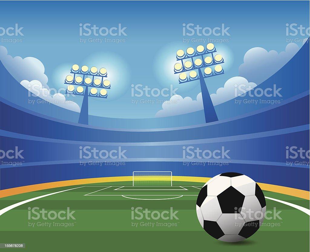 Soccer stadium vector art illustration