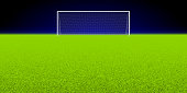 Soccer stadium with a goal