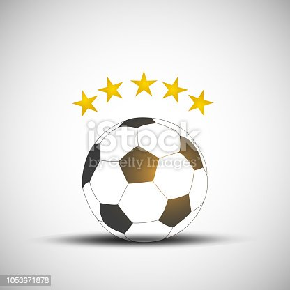 Soccer Five Star Concept Vector Background
