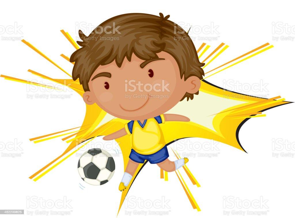 Soccer star vector art illustration